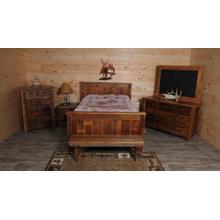 Barnwood Panel Bed