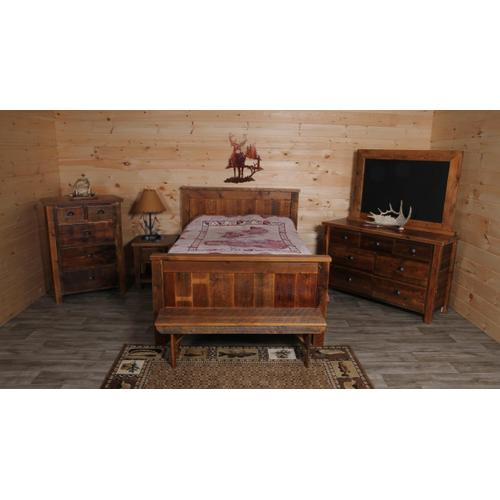 Cozy Creations Collection - Barnwood Panel Bed