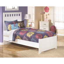 Lulu - White - Twin Panel Bed