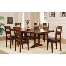 7Pc Trestle Table Set - Mango