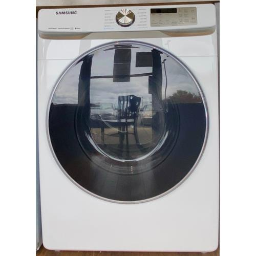 Product Image - Samsung DVE45R6300W     7.5 cu. ft. Smart Electric Dryer with Steam Sanitize  in White