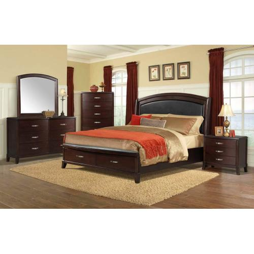 Elements - Delaney King Bed with Storage Footboard