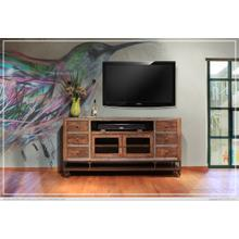 See Details - 76in TV Stand w/2 Glass doors, 6 Drawers