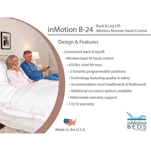 B-24 inMotion Wireless Adjustable with Head & Foot Lift