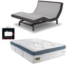 See Details - Leggett & Platt Prodigy 2.0 Adjustable Bed, Bedboss Revolution Hybrid Mattress, and set of Dreamfit Sheets