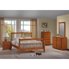 MERRIMAC WINDSOR TWIN BED FRAME - HONEY OAK