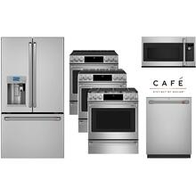 Cafe Stainless 4 Piece Kitchen with Your Choice of Gas, Induction or Electric