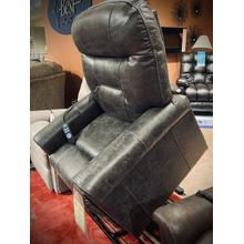 POWER LIFT RECLINER with Heat & Massage in Steel     (434-STEEL,44981)