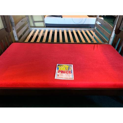 "5"" red memory foam mattress"