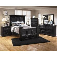 See Details - Queen Bed, Nightstand, Dresser, Mirror, and Chest of drawers