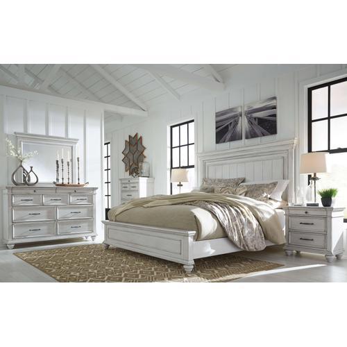 Kanwyn - Queen Panel Bed, Dresser, Mirror, & 1 x Nightstand