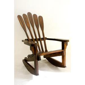 Canoe Paddle Rocking Chair