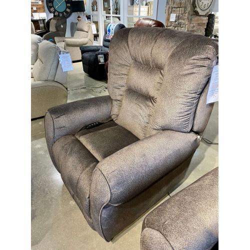 Tweed Gun Metal Lay Flat Power Lift Chair