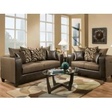 See Details - 110 Rodeo Sofa and Loveseat Set - Brown