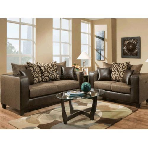 Kaylas Furniture - 110 Rodeo Sofa and Loveseat Set - Brown