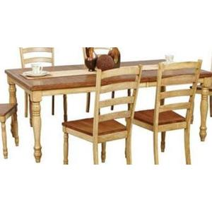 Wheat/almond 78in Leg Table With 18in Butterfly Leaf