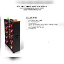 10 x 8 RULL RANGE BLUETOOTH SPEAKER WITH EXPLOSIVE SOUND AND LIGHTS 10,000 WATTS PEAK POWER
