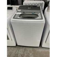 5.0 cu. ft. Top Load Washer with Active WaterJet in White**Ankeny Location** DENT ON FRONT 1 YEAR WARRANTY**