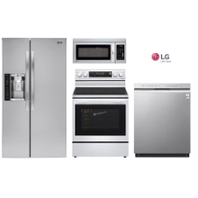 LG Package with Side by Side Refrigerator