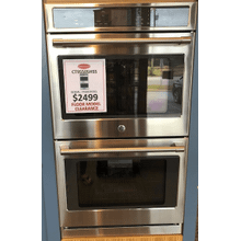 """See Details - GE Cafe™ Series 30"""" Built-In Double Convection Wall Oven"""