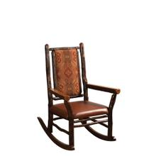 Grandpa Rocker w/ Fabric or Leather Seat & Back