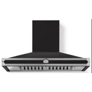 Lacornue Cornufe - Matte Black Cornufe 110 Hood with Satin Chrome Accents