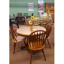 "57"" Pedestal Table with 4 Chairs"