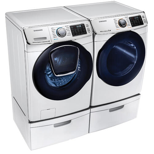SAMSUNG 5.0 cu. ft. AddWash Front Load Washer & 7.5 cu. ft. Electric Dryer