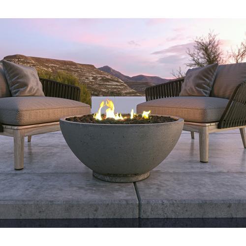 "Firegear Sanctuary 3 - 30"" Gas Fire Bowl in Cream / Match Throw Burner System"