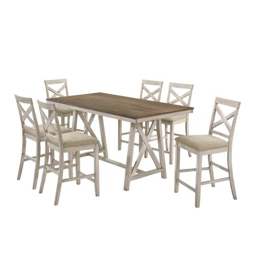 Somerset 7 Pc Vintage Cream/White Counter Height Dinette Set by New Classic, Model D2959