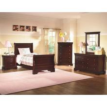 Versaille Twin Size Sleigh Bed