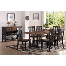 7 Piece Rustic Dining Set