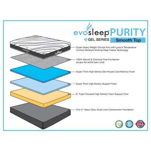 "EvoSleep - Purity 10"" Smooth Top"