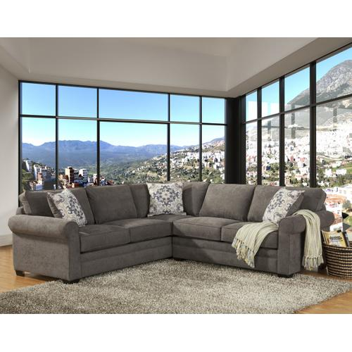 Comfort Industries - Lexi 2 Pc. Sectional Charcoal