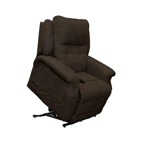 Chocolate Haywood Lift Recliner with Power Headrest, Head and Massage