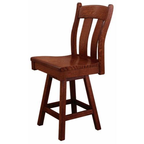 Amish Furniture - Austin Swivel Bar Stool