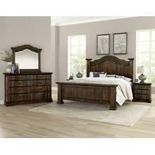 Rustic Hills 6pc King Bedroom Set Coffee Finish