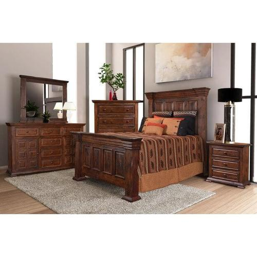 Brown Five Drawer Chest