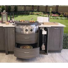 See Details - Affinity 25G Drop-in Circular Flat Top Grill