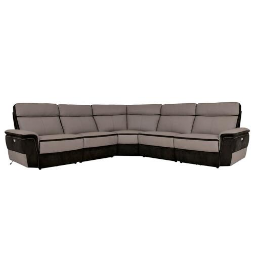 Laertes Genuine Leather Power Reclining 5pc Sectional