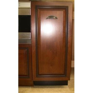 """15"""" Recycling Cabinet Black & Wood front Panel Ready"""