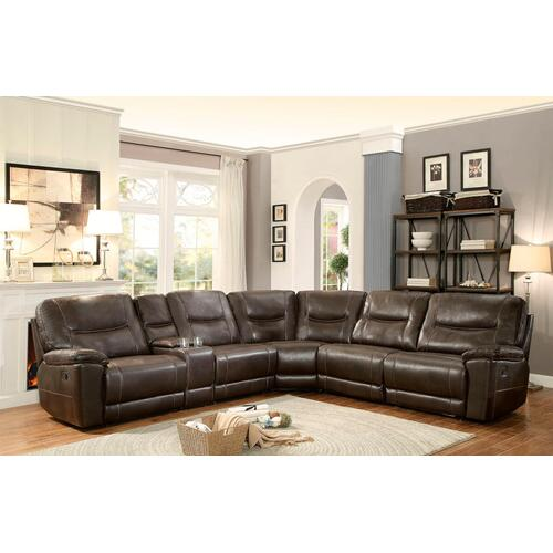 Columbus Power Reclining 6pc. Sectional