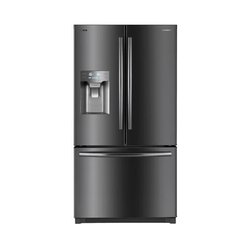 "DAEWOO Black Stainless Steel 36"" French Door 25.5 cu. ft. Refrigerator"