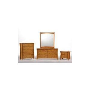 Clove 6 Drawer Dresser Medium Oak Finish