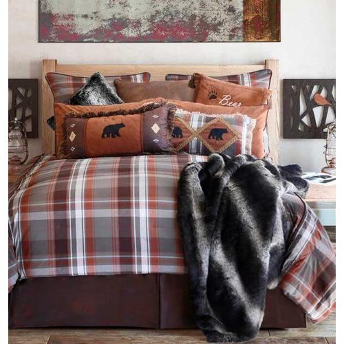 Queen Grand Teton Plaid 5PC. Comforter Set