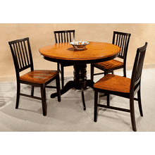 Arlington 48 Round Table Top - Black and Java