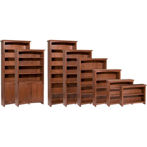"""Whittier Wood Furniture - McKenzie 36""""W bookcase"""