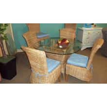 PALM SPRINGS DINETTE  -  ROUND TABLE AND 4 SIDE CHAIRS - CLEARANCE