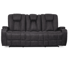 See Details - Aviator Granite Reclining Sofa with Drop Down Table