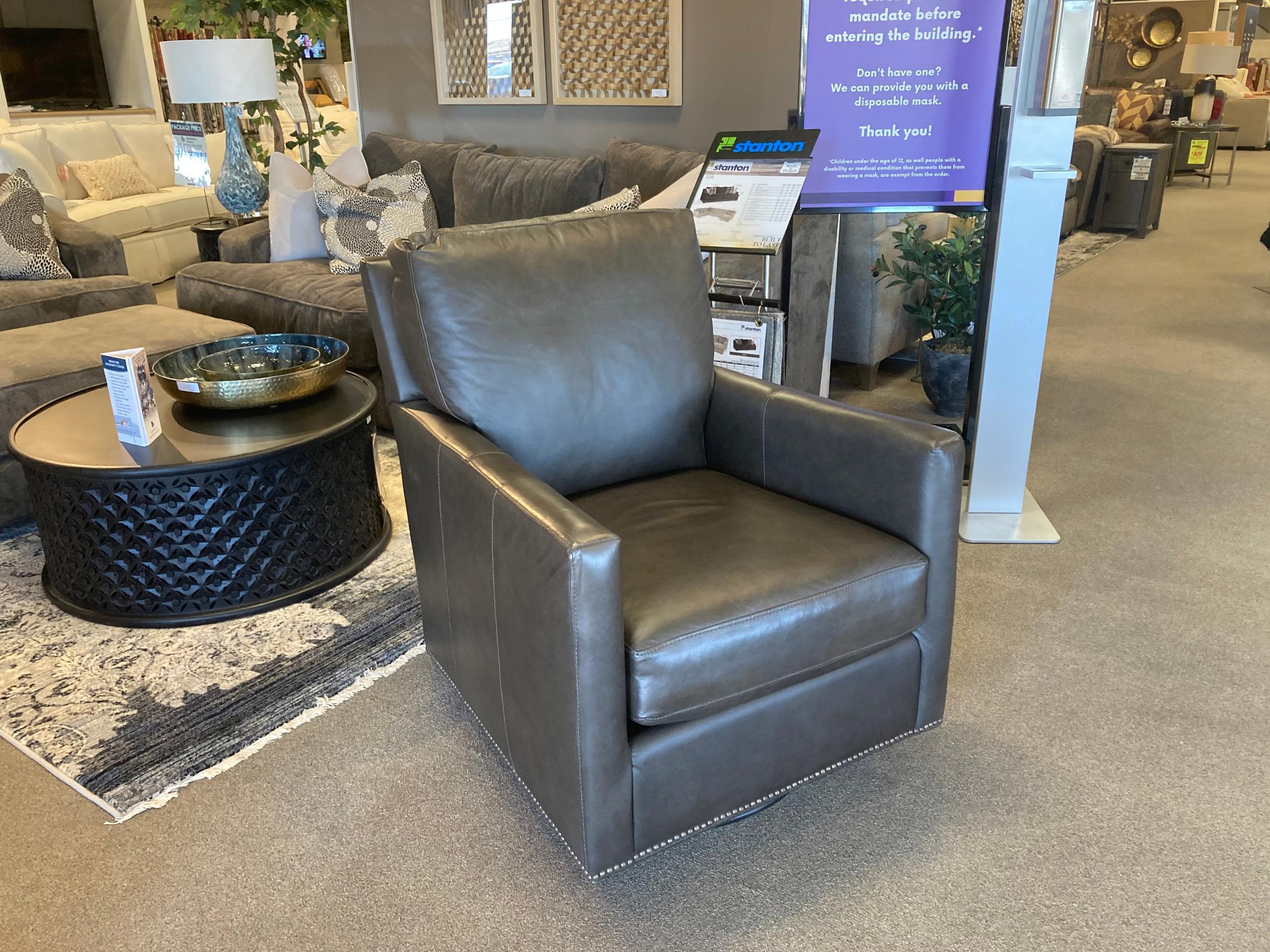 Bassett FurnitureTrent Leather Swivel Glider
